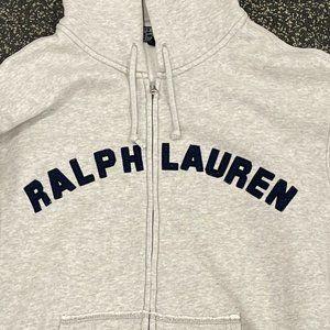 Polo Ralph Lauren Grey Vintage Full Zip Hoodie